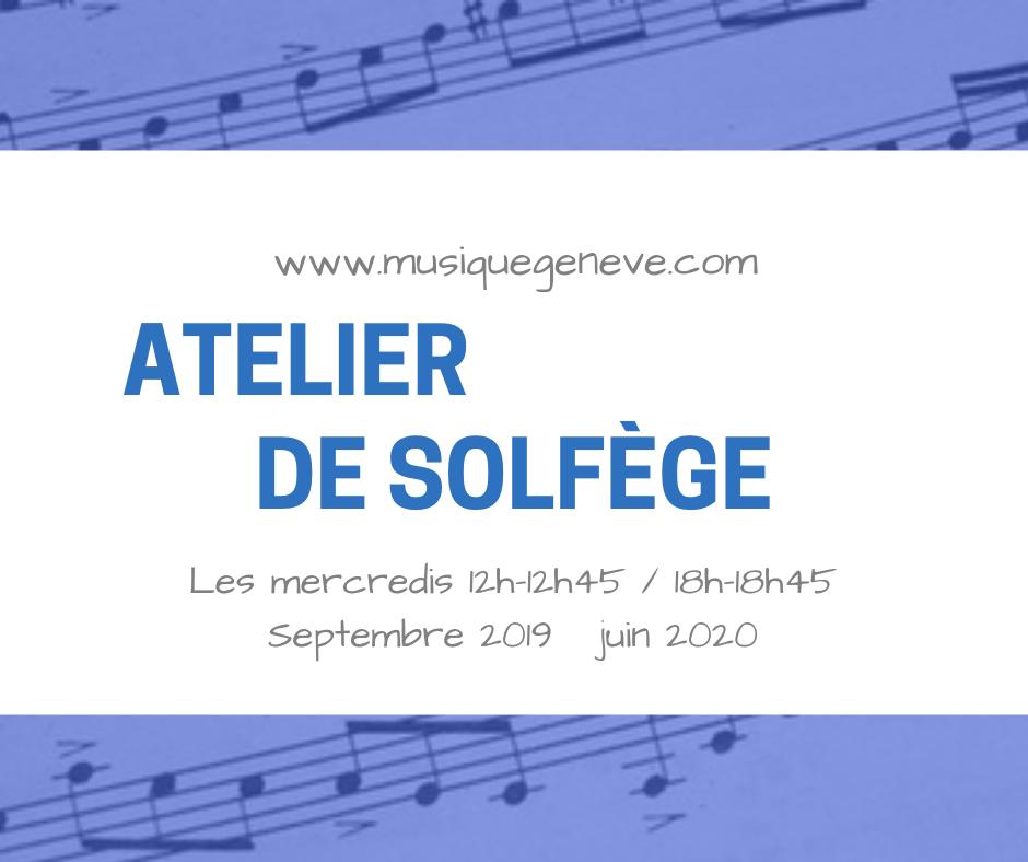 Cours de Solfège à Genève